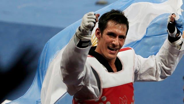 Crismanich en su momento histórico: cuando ganó la medalla de oro en Londres 2012