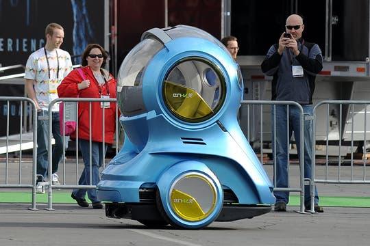 EN-V Xiao, un prototipo de GM que llamó la atención de los visitantes de la feria de tecnología que se desarrolló en Las Vegas. Foto: Archivo