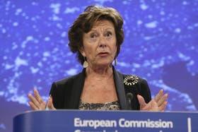 a vicepresidenta de la CE y responsable de la Agenda Digital de la Unión Europea, Neelie Kroes