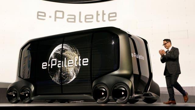 El Toyota e-Palette es un auto autónomo que tendrá Amazon Alexa integrado