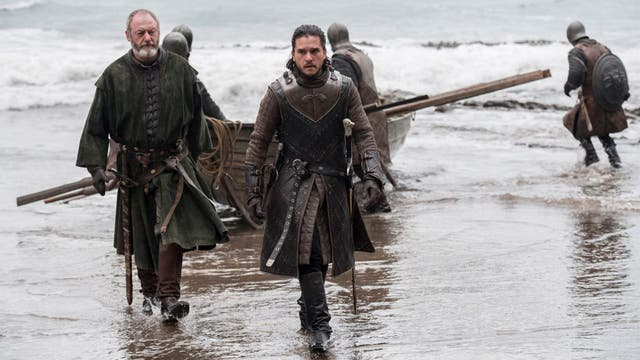 Jon Snow y Davos, ¿camino a Dragonstone?