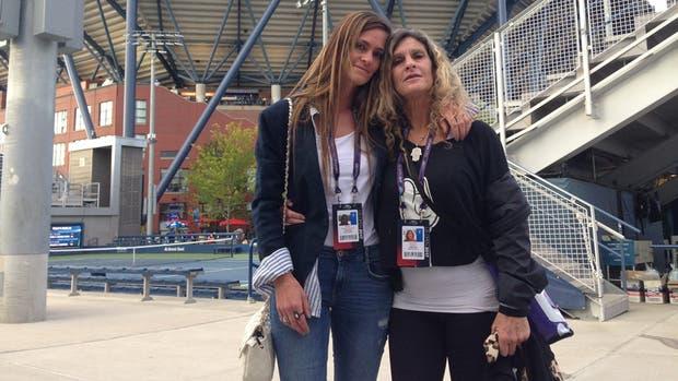 La familia del Peque en el US Open