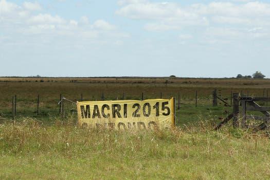 El Pro de Mauricio Macri es el partido con menos presencia en la ruta 2. Foto: LA NACION / Matías Aimar