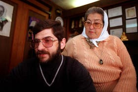 Sergio con Hebe, en 1995