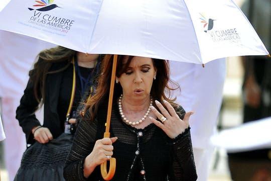 Cristina Fernández se retiró del encuentro regional a las 10:30 am hora local. Foto: EFE
