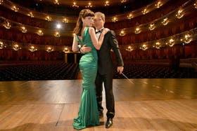 Natalia Oreiro y Adrián Suar, en el Teatro Colón