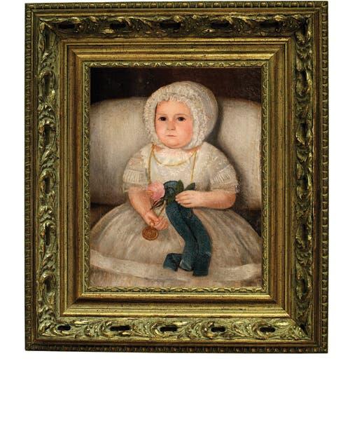 Niña, óleo sobre lienzo de Cándido López, 1863. Colección Zurbaran.