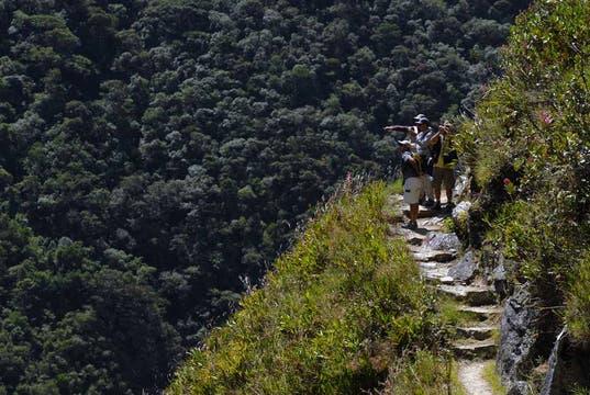 El Camino del Inca junto al río Urubamba. Foto: Archivo / Julián Bongiovanni