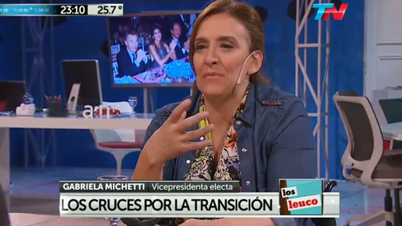 Gabriela Michetti. Foto: Captura de pantalla