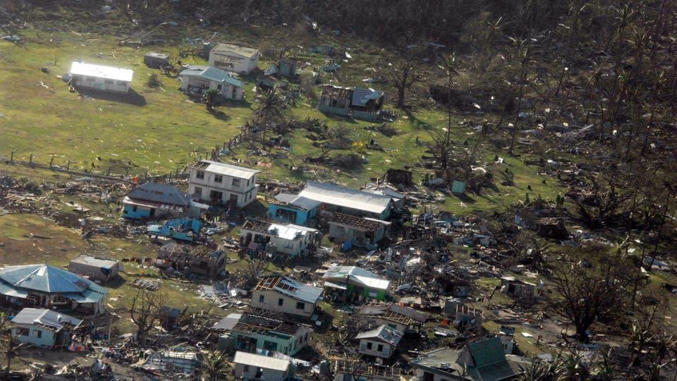 Winston fue el ciclón más fuerte jamás registrado en las islas Fiji, que en la noche del sábado al domingo azotó el archipiélago con vientos de más de 300 kilómetros por hora. Foto: Reuters