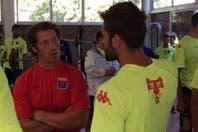 Pedro Troglio dirigió su primera práctica como entrenador de Tigre y se ilusiona con un debut ganador ante Racing