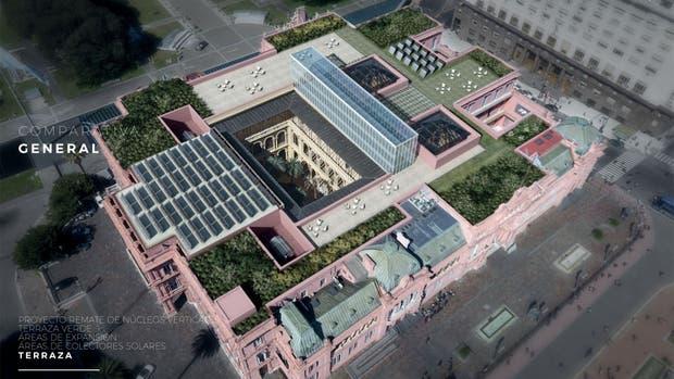Comparativa de la remodelación de la Casa Rosada