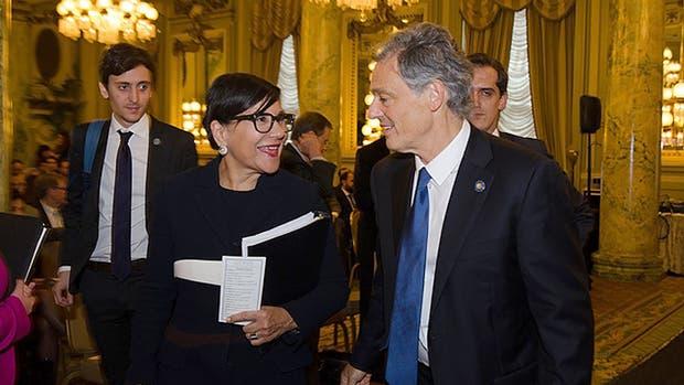 Cabrera y Penny Pritzker, secretaria de Comercio de EE.UU., ayer, en Washington