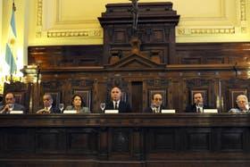 Los miembros de la Corte Suprema