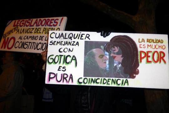 La ocurrencia y originalidad de los que participaron en la protesta del #8N. Foto: LA NACION / Valeria Shapira