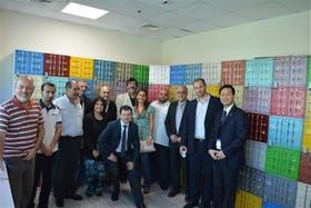 La delegación argentina en el Puerto de Dubai