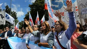 En la provincia de Buenos Aires hoy se cumple el undécimo día de paro