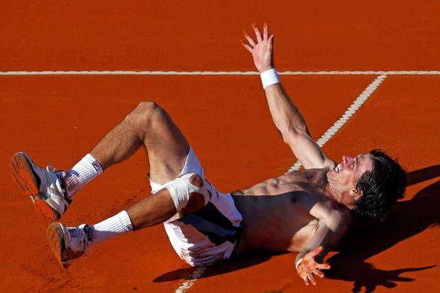La alegría de Berlocq.  /AP, AFP, EFE, Reuters y DyN