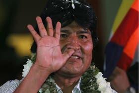 Evo Morales, ayer, en un acto de organizaciones sociales bolivianas en Cochabamba