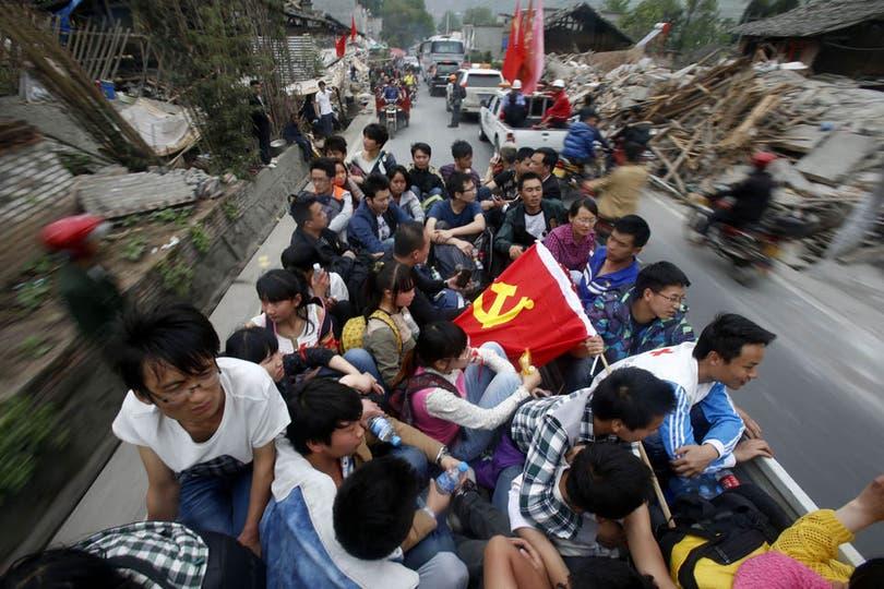 El temblor ocurrió en el condado de Lushan, cerca de la ciudad de Ya''''''''''''''''an. Foto: AFP