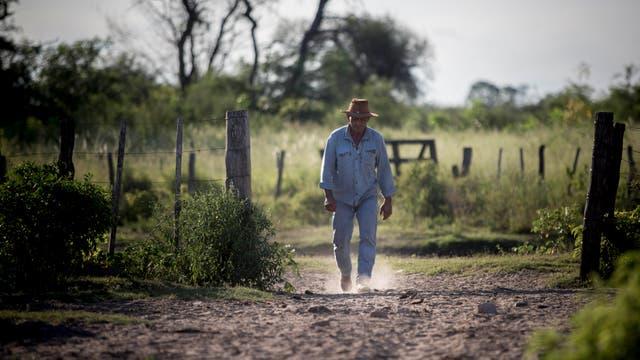 Leon Chavez es productor de sandias. En verano trabaja por la noche para poder soportar las altas temperaturas. Foto: LA NACION / Santiago Filipuzzi