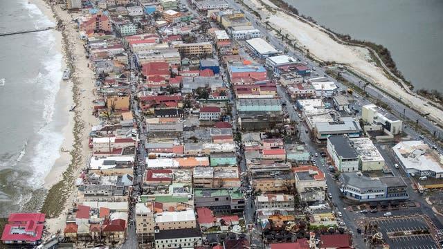 El 95 % de la isla quedó destruida por el poder de Irma