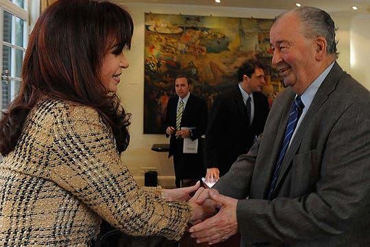 El 8 de junio de 2009 fue recibido en Olivos por la Presidenta. Foto: Archivo