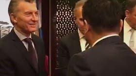 El presidente Mauricio Macri, hoy, en el Foro de Negocios e Inversiones