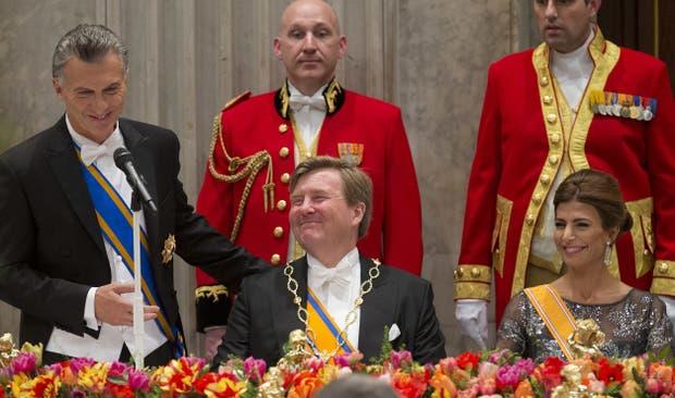 La cena de gala en el Palacio Real de Amsterdam