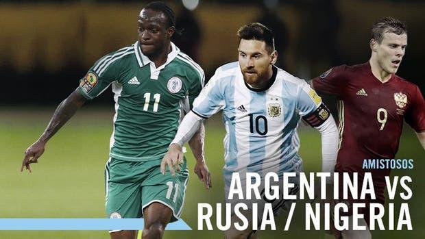Rusia y Nigeria, los próximos rivales de la selección