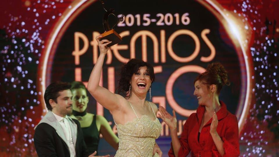 Natalia Cociuffo, la mejor actriz del año, por su papel en Los Monstruos. Foto: Fabián Marelli