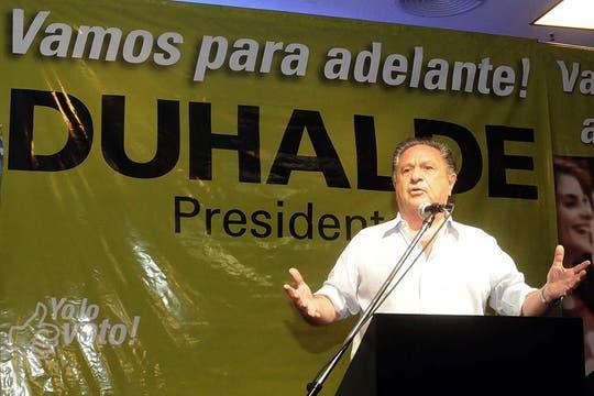 Duhalde dejó claro que no se alejará del plano político. Foto: DyN