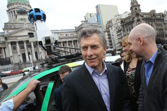 Mauricio Macri y Horacio Larreta estuvieron en la presentación. Foto: EFE