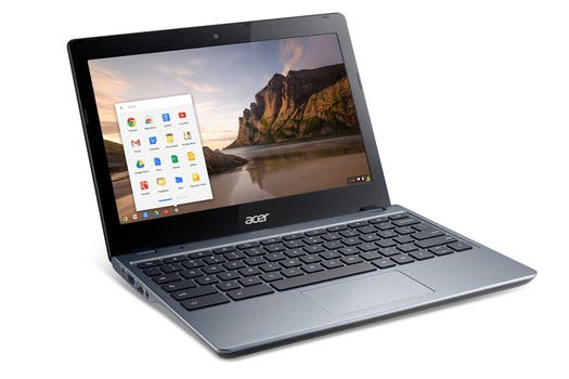 Una Acer C720, con chip Intel Core i3.