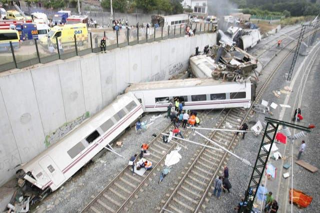 E tren Alvia cubría la ruta entre Madrid y Ferrol
