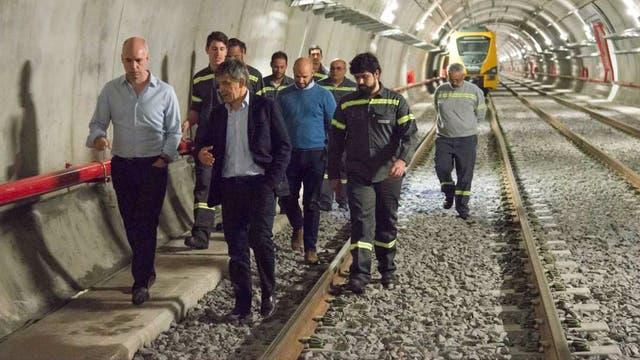 Rodríguez Larreta recorrió la obra junto a trabajadores del subte