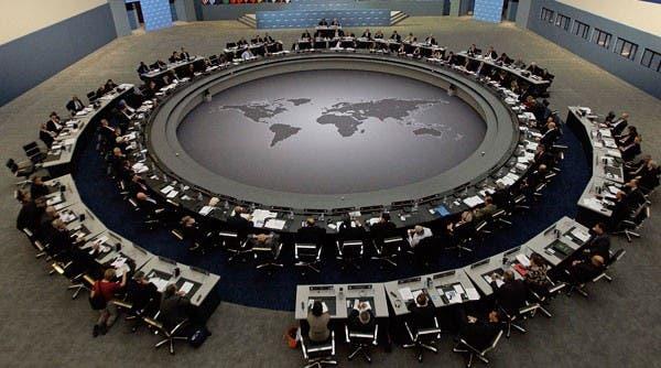 La mesa del G-20.. Foto: EFE