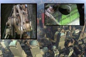 Parte del tren de aterrizaje hallado en la zona del World Trade Center