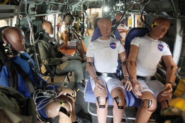 Los muñecos crash test dummies sirvieron para medir el impacto del choque