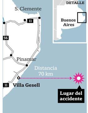 Mapa dónde fue el lugar del accidente naufragio hundimiento se hundió pesquero San Jorge