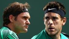 Del Potro se prepara para jugar contra Federer