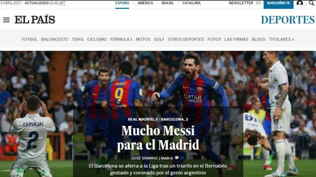 El diario El País, de España. Foto: El Pais