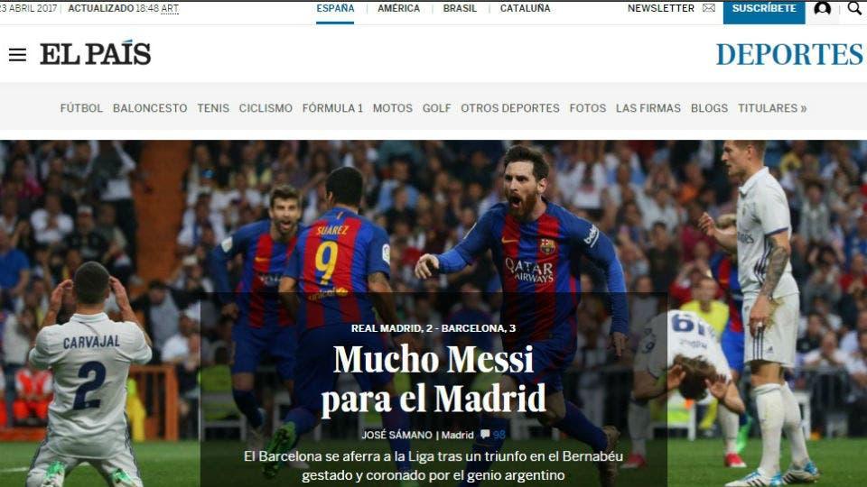 El diario español El País