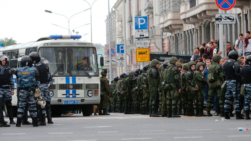 Las protestas fueron las más amplias en Rusia desde que Vladimir Putin volvió a asumir la presidencia, en 2012. Foto: AFP