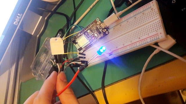 Uno de los módulos con los sensores que componen la red de monitoreo