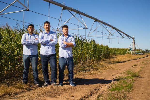 Juan Carlos Abdala, Jairo Trad y Rodrigo Tissera, desarrolladores de Kilimo.