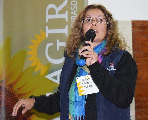 Verónica Sauer, técnica del INTA Las Breñas, en las jornadas de Asagir
