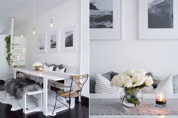 En cuanto a los colores, la gama de grises es muy utilizada y se aplica en contraste con blanco puro.  /Lindsaymarcella