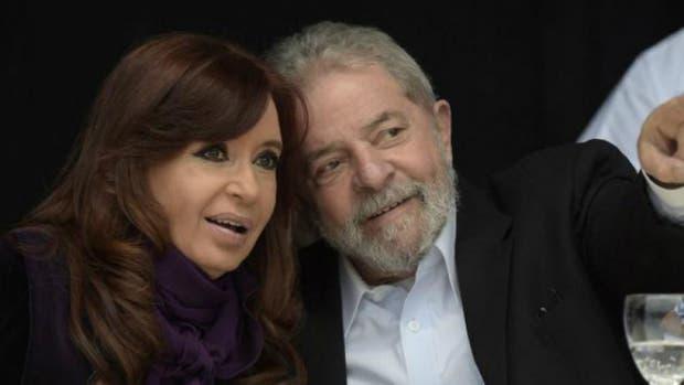 La ex presidenta Cristina Kirchner y su par brasileño Lula da Silva