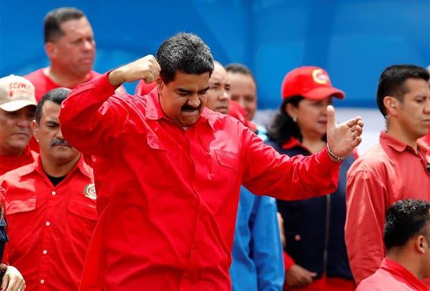 El presidente venezolano ayer, durante el acto de cierre de campaña